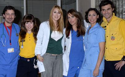 Los amigos que están en el hospital