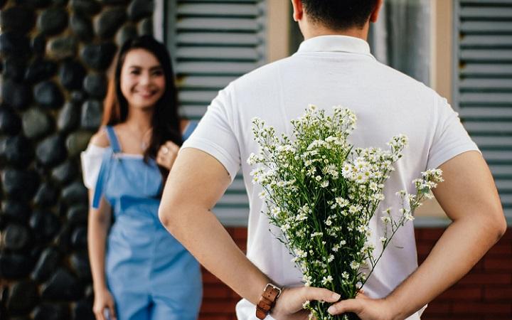 Flores en una cita