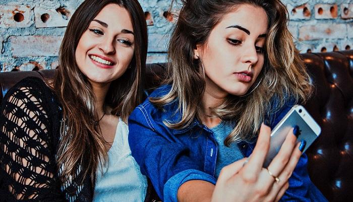 Selfie de amigas